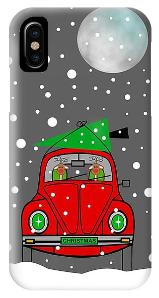 Santa Lane IPhone Case