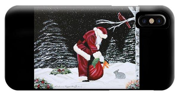 Santa Loves All Creatures IPhone Case