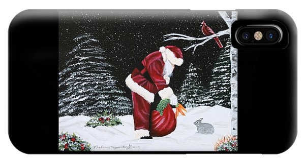 Santa Loves All Creatures IPhone Case