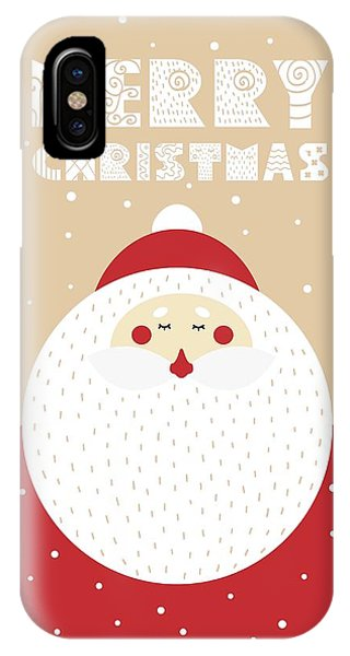 IPhone Case featuring the digital art Santa Merry Christmas 2 by Christopher Meade