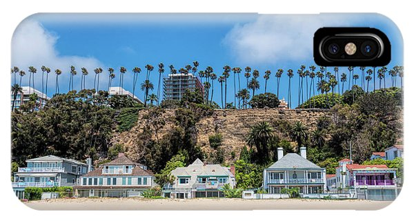 IPhone Case featuring the photograph Santa Monica Beach Front by Michael Hope