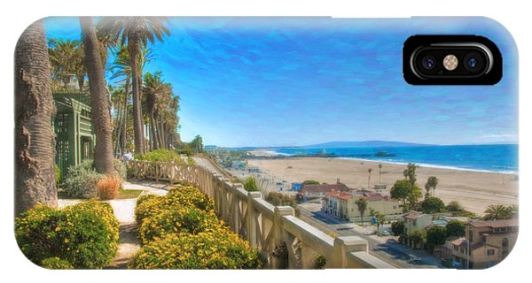 Santa Monica Ca Palisades Park Bluffs Gold Coast Luxury Houses IPhone Case