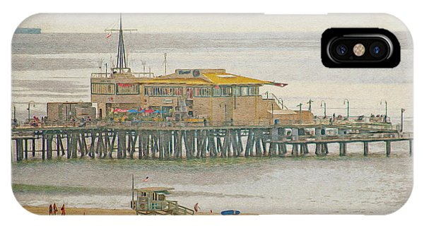 IPhone Case featuring the digital art Santa Monica Pier by Anthony Murphy