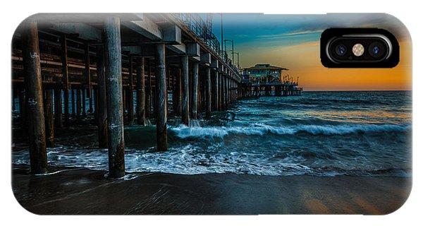 Santa Monica Pier At Sunset IPhone Case