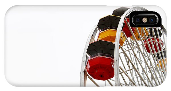 California iPhone Case - Santa Monica Pier Ferris Wheel- By Linda Woods by Linda Woods