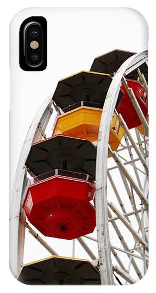 California iPhone Case - Santa Monica Pier Ferris Wheel- By Linda Woods by Linda Woods