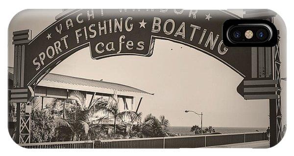 Santa Monica Sign Series Modern Vintage IPhone Case