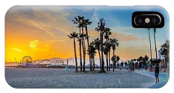 Beautiful Sunrise iPhone Case - Santa Monica Sunset by Az Jackson