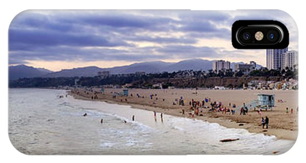 Santa Monica Sunset Panorama IPhone Case