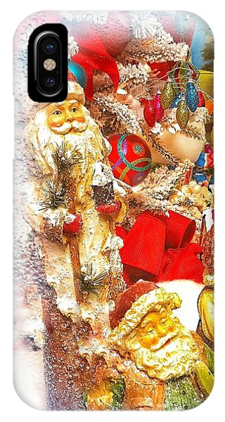 Santa Scene 1 IPhone Case
