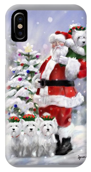 Elf iPhone X Case - Santa's Helpers by Mary Sparrow
