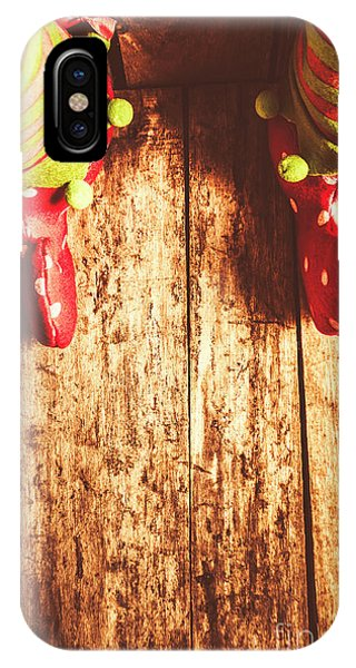 Elf iPhone X Case - Santas Little Helper by Jorgo Photography - Wall Art Gallery