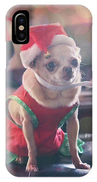 Chihuahua iPhone Case - Santa's Little Helper by Laurie Search