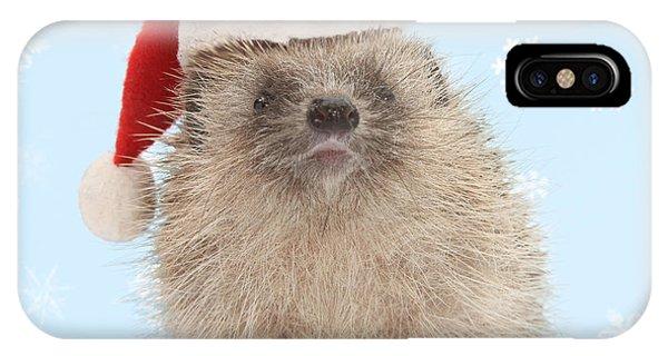 Santa's Prickly Pal IPhone Case