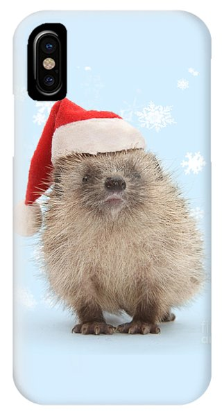 Santa's Prickly Pal IPhone Case