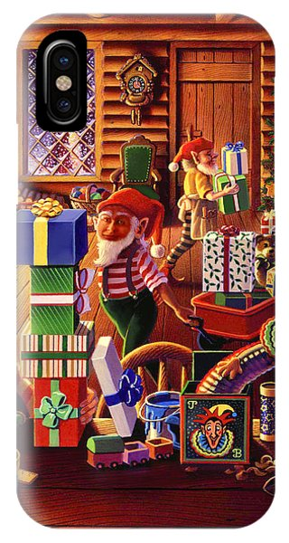 Santa's Workshop IPhone Case