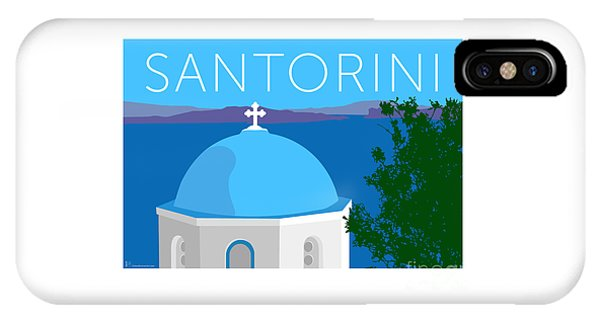 Santorini Dome - Blue IPhone Case