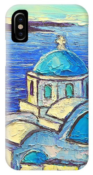 Santorini  Blue IPhone Case