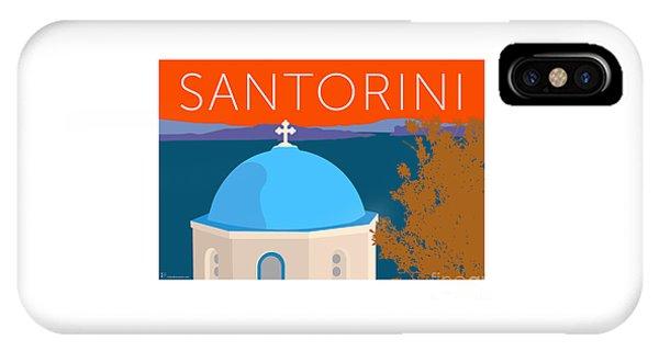 IPhone Case featuring the digital art Santorini Dome - Orange by Sam Brennan