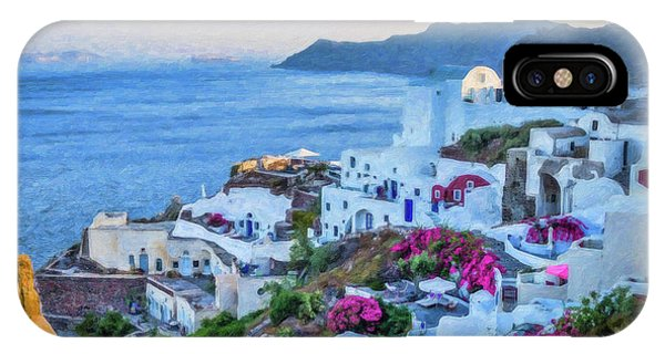 Santorini Greece Dwp416136  IPhone Case