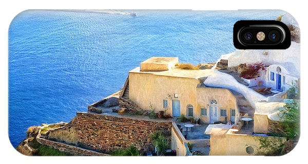 Greece iPhone Case - Santorini Greece by HD Connelly