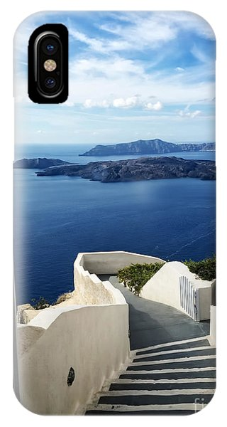 Greece iPhone X Case - Santorini by HD Connelly