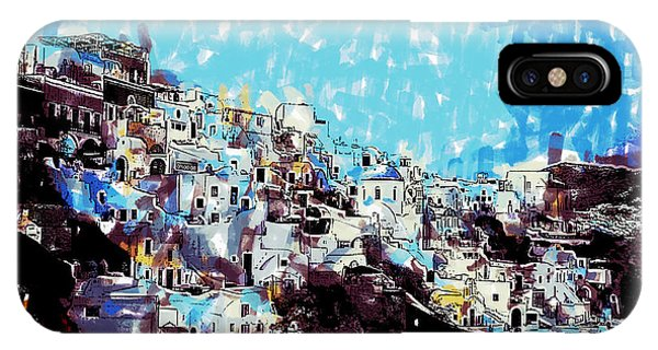 Santorini Island IPhone Case