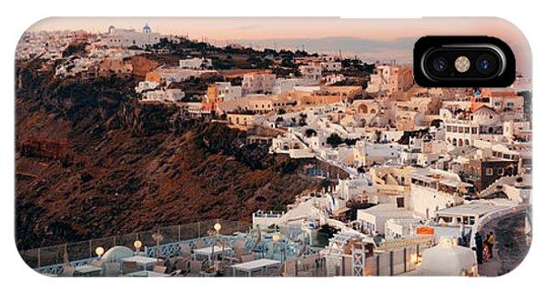 Santorini Skyline Sunset Phone Case by Songquan Deng