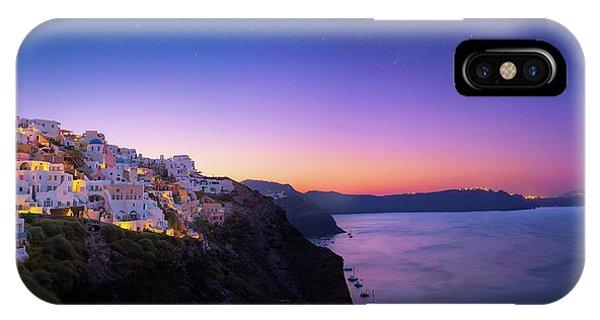 Greece iPhone Case - Santorini Sunrise by Taylor Franta