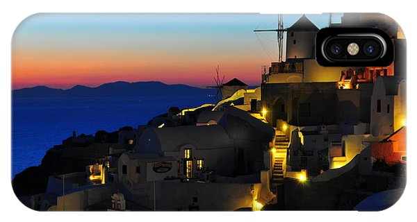 Greece iPhone Case - Santorini Sunset by Ian Stotesbury