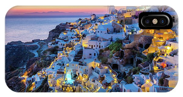 Greece iPhone Case - Santorini Sunset by Inge Johnsson