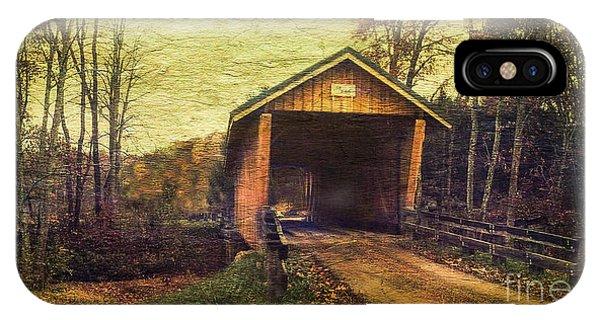 Santoy Covered Bridge #35-58-38 Morgan County Ohio Phone Case by Robert Gardner