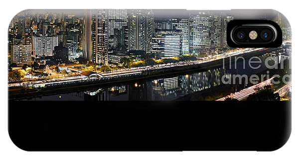 Sao Paulo Iconic Skyline - Cable-stayed Bridge  IPhone Case