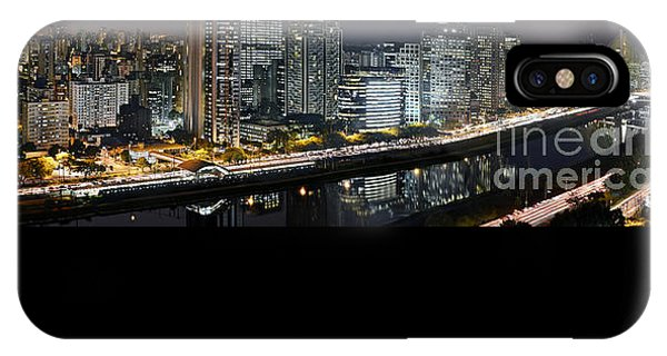 Sao Paulo Iconic Skyline - Cable-stayed Bridge  IPhone Case