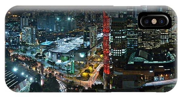 Sao Paulo Skyline Modern Corporate Districts Brooklin Morumbi Chacara Santo Antonio IPhone Case