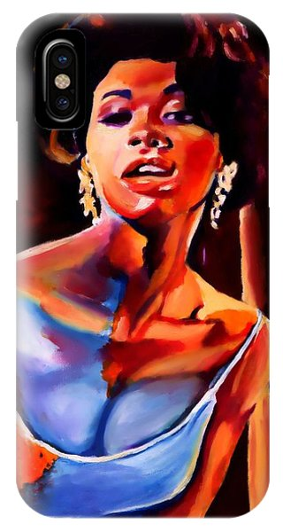 Sarah Vaughan Phone Case by Vel Verrept