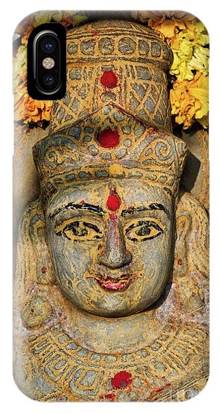 Saraswathi Statue In Morning Light Phone Case by Tim Gainey