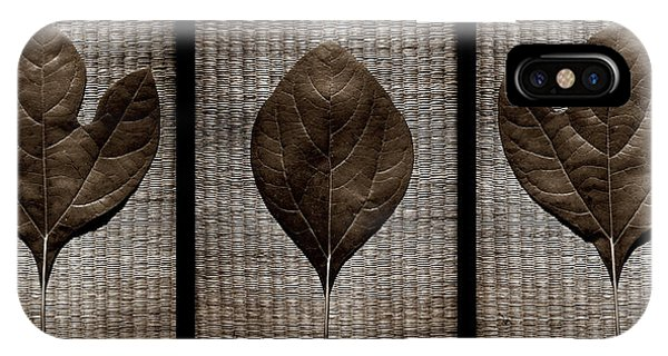 Sassafras Leaves With Wicker IPhone Case