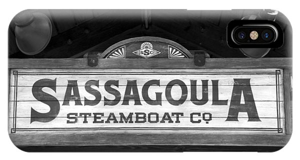 iPhone Case - Sassagoula Steamboat Company Sign by David Lee Thompson