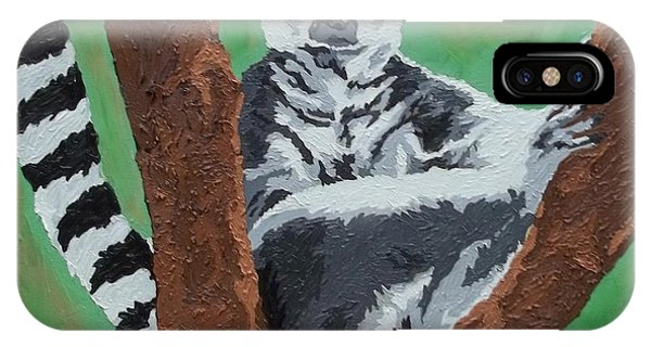 Ring-tailed Lemur iPhone Case - Sassy Socialite by Amy Pugh