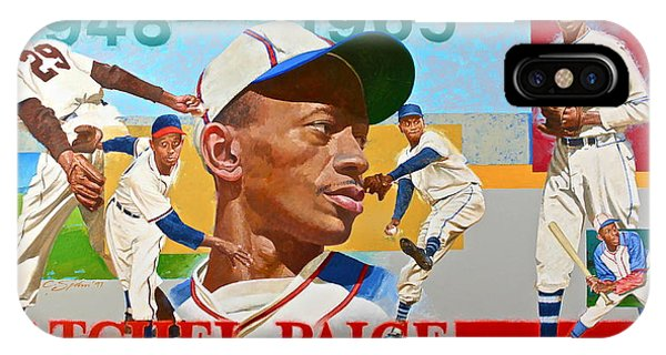 IPhone Case featuring the painting Satchel Paige by Cliff Spohn