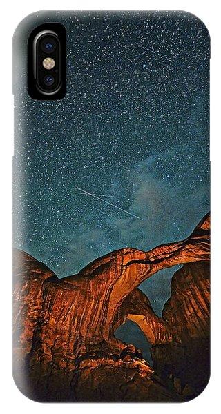 Satellites Crossing In The Night IPhone Case