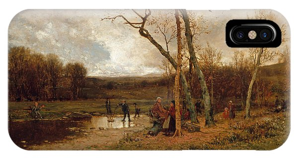 Jervis iPhone Case - Saturday Afternoon by Jervis McEntee