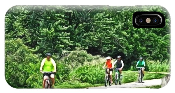 Saturday Bike Ride IPhone Case