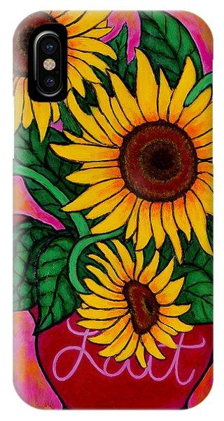 Saturday Morning Sunflowers IPhone Case