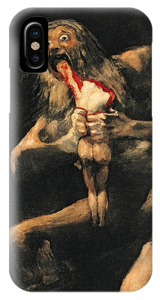 Saturn Devouring One Of His Children  IPhone Case