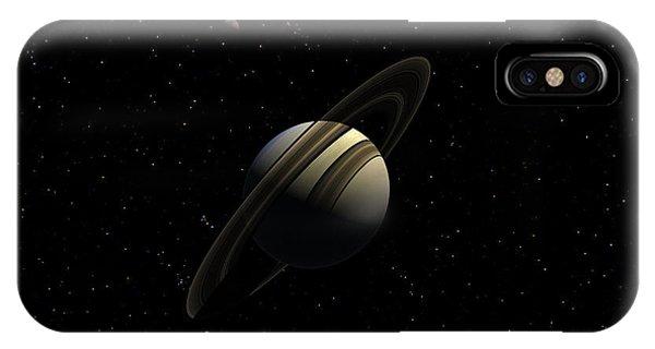Saturn With Titan IPhone Case