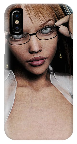 Saucy Secretary IPhone Case