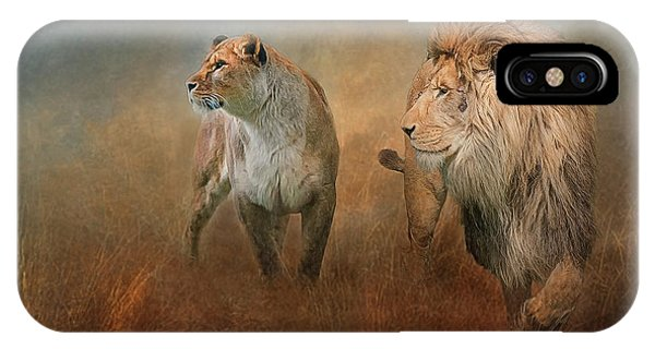 Savanna Lions IPhone Case