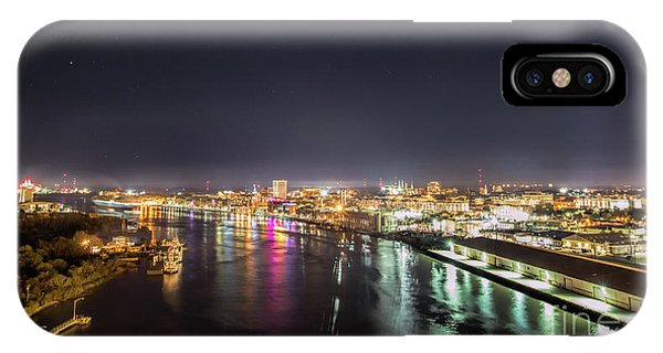Savannah Georgia Skyline IPhone Case